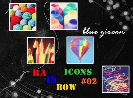 Rainbow Icons 02 by bluezircon-graphics