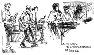 Dutch Uncles gig sketches by black-rider