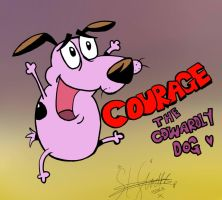 Courage the Cowardly Dog by butt-4-brains