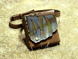 Small Butterfly Leather Belt Bag by izasartshop
