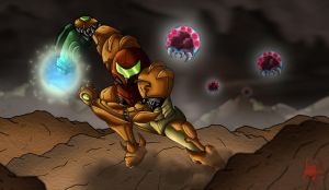 Metroid- Fan Art by kodinkenji