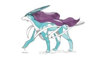 Gotta Draw 'Em All Collab: Suicune by NintendoPie