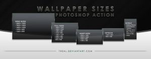 Wallpaper Sizes Photoshop Action by TheAL
