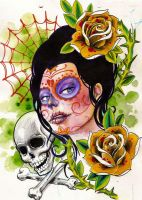 day of dead girl by mojoncio