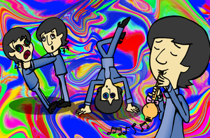 Pyschadelic Beatles by julie090995