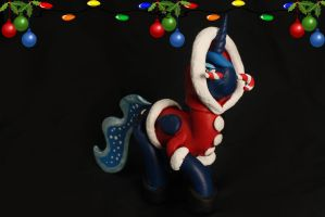 Luna candy cane costume sculpture FOR SALE by emmyzbunny