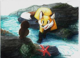 Relaxing By The Tidepool by 0-G-Inspired