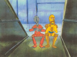 Hand Painted Star Wars Droids Production Cel by AnimationValley