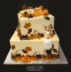 Autumn Bridal Shower Cake by ArteDiAmore