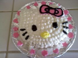 Hello Kitty Cake by ichigoluv