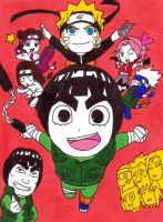rock lee's springtime of youth by frecklesmile