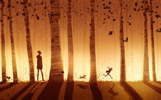 A walk at the end of the day. by PascalCampion