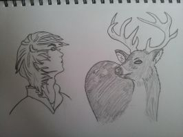 Man and a deer by BloodyRK