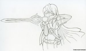 Lucina (WIP) by TheXHunter08