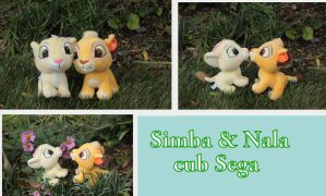 Japanese SEGA Simba and Nala cub by Laurel-Lion