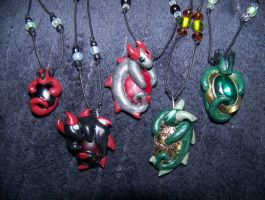 Baby Dragon Necklaces 2 by LittleBachman