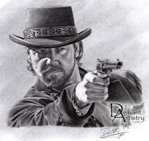 Russell Crowe as Ben Wade by DefiantArtistry