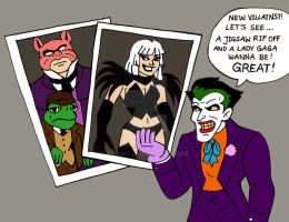 Joker's: 'Let's take a look on the new villains' by xero87