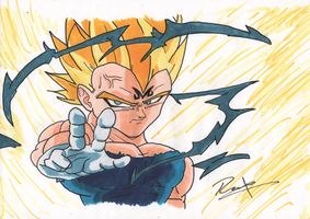 majin vegeta final shine by syc0ticsART