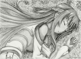 Sword Art Online - Sleeping Asuna by mangaslover