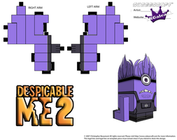 Despicable Me Evil Purple Minion Part 2 by SKGaleana