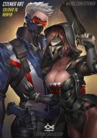 SOLDIER:76 AND REAPER by citemer