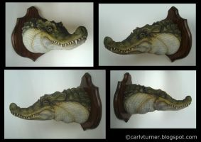 Lagoon Crocodile Collage by thebiscuitboy