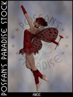 LadyBug Faerie 003 by poserfan-stock