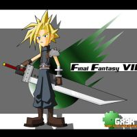 FFVII Cloud Gx3R styled 2004 by Gx3RComics