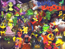 Banjo Kazooie Collage by etherealwings89