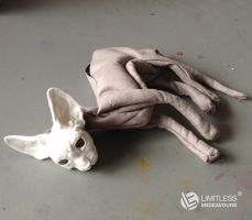 Sphynx Commission 2 WIP by LimitlessEndeavours
