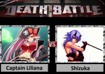 Death Battle: Captain Liliana Vs Shizuka by DarkKomet