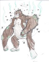 Cryptid046A Florida Skunk-Ape by MegamanNeos