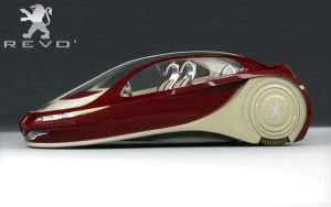 Peugeot Revo' 2008 front by csicso3d