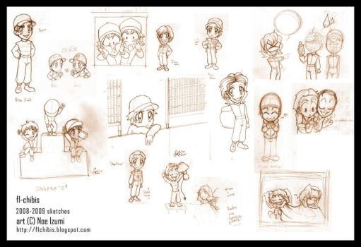 F1-chibis sketches bunch-1 by Noe-Izumi