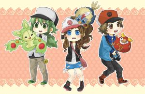 Pokemon BW Characters by neneno