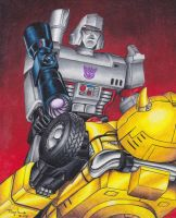 Megatron and Bumblebee by Pompster