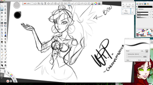 WIP - Something with Paithien by FawnGoggler