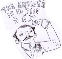 the answer is in the sky. by boobookittyfuck