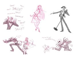 jack and sally sketchdump by briannacherrygarcia