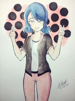 Marinette #watercolor by SuzCerna