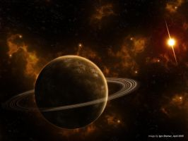 Ringed planet by Abriell