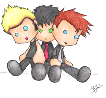 Green Day plushies by dongpeiyen1000