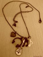 Necklace of music by Always-Emo