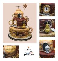 Steampunk Machinarium Cake by The-Nonexistent