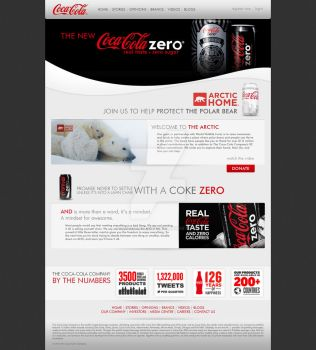 Coca-Cola Website by ArchangelX2