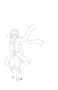 Natsu Poster Lineart WIP by FluffyCamellia