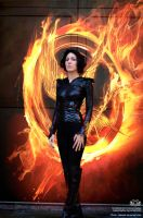 The girl on fire by CassyCosplay