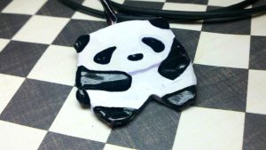 Panda Necklace by kitty25kit