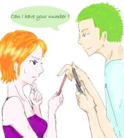 Can I Have Ur Number? (Zoro Nami) by BelleLoveZoro
